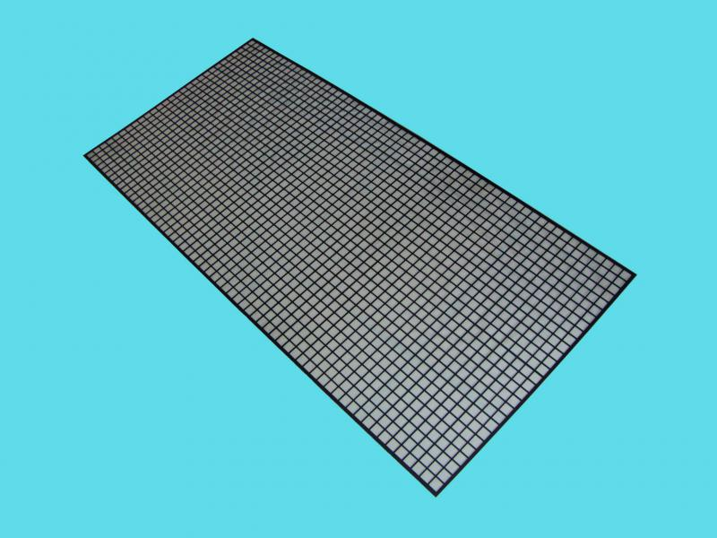 Chapa perfurada furo quadrado